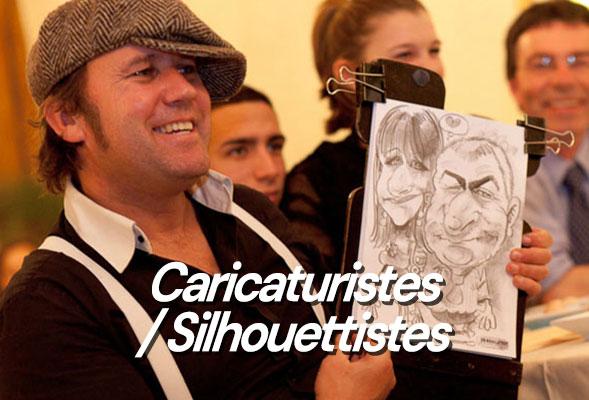 Caricaturiste papier ou tablette numérique - Silhouette - Silhouettiste